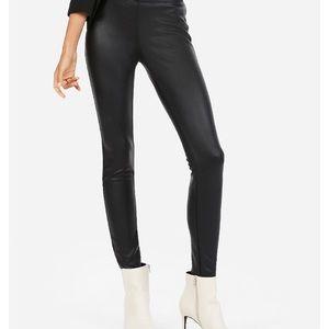 Express vegan leather leggings